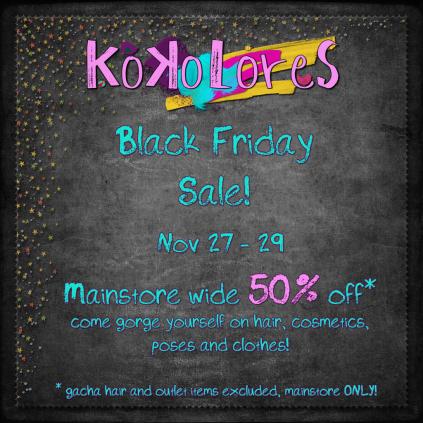 [KoKoLoReS] Black Friday Sale 2015 AD
